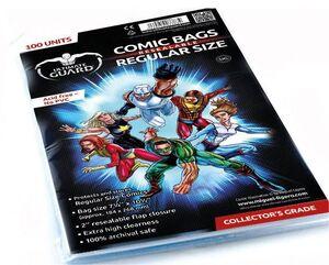 ULTIMATE GUARD COMIC BAGS CON CIERRE REUTILIZABLE COMICS REGULA SIZE (100)