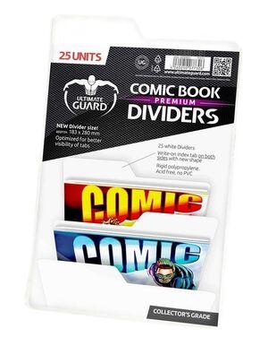 ULTIMATE GUARD PREMIUM COMIC BOOK DIVIDERS PARA COMICS BLANCO (25)
