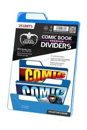 ULTIMATE GUARD PREMIUM COMIC BOOK DIVIDERS SEPARADORES AZUL (25)