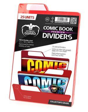 ULTIMATE GUARD PREMIUM COMIC BOOK DIVIDERS SEPARADORES ROJO (25)