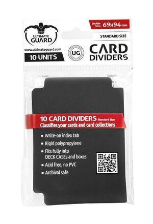 ULTIMATE GUARD CARD DIVIDERS TARJETAS SEPARADORAS (10) NEGRO