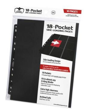 ULTIMATE GUARD 18-POCKET PAGES SIDE-LOADING NEGRO (10)