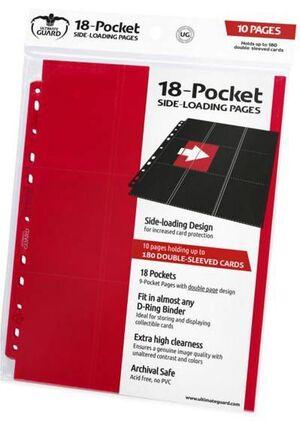 ULTIMATE GUARD 18-POCKET PAGES SIDE-LOADING ROJO (10)