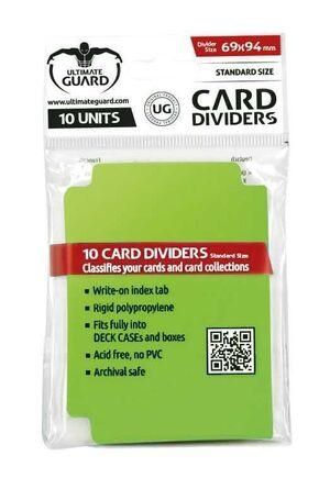 ULTIMATE GUARD CARD DIVIDERS TARJETAS SEPARADORAS (10) VERDE CLARO