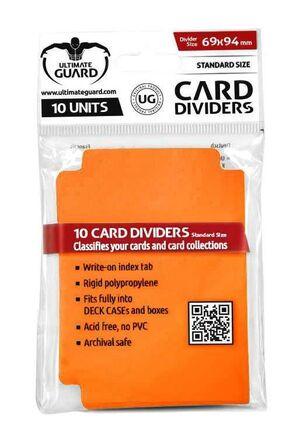 ULTIMATE GUARD CARD DIVIDERS TARJETAS SEPARADORAS (10) NARANJA
