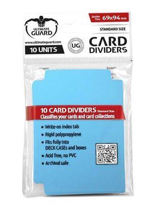 ULTIMATE GUARD CARD DIVIDERS TARJETAS SEPARADORAS (10) AZUL CELESTE