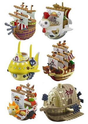 ONE PIECE YURA SERIE 3 WOBBLING PIRATE SHIP COLLECTION FIG 6CM