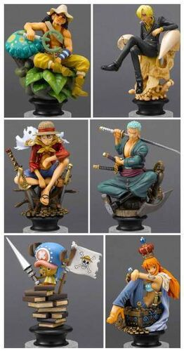 ONE PIECE CHESS PIECE COLLECTION VOL.1 FIG 9CM (6 MODELOS)