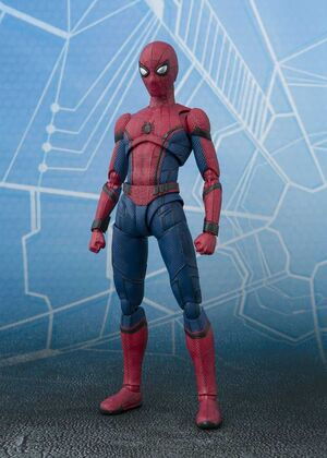 SPIDER-MAN HOMECOMING FIGURA 14.5 CM SPIDER-MAN & TAMASHII ACT WALL SH FI