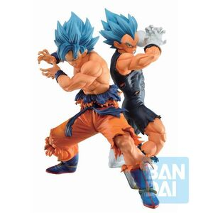 DRAGON BALL SUPER ESTATUAS PVC ICHIBANSHO SSGSS SON GOKU & SSGSS VEGETA (VS OMNIBUS SUPER) 20-21 CM