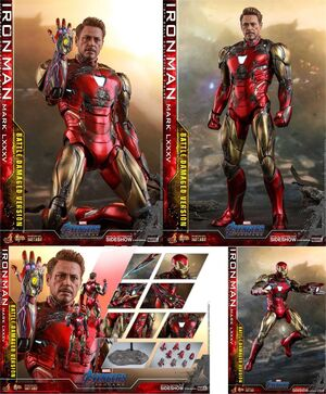 VENGADORES ENDGAME FIG MM2 DIECAST IRON MAN MARK LXXXV BATTLE DAMAGED 32CM