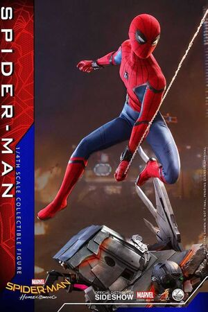 SPIDERMAN HOMECOMING FIGURA 44 CM 1/4 SCALE SPIDER-MAN MARVEL (HOT TOYS)