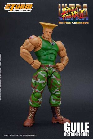 STREET FIGTHER II FIGURA 1/12 16 CM GUILE