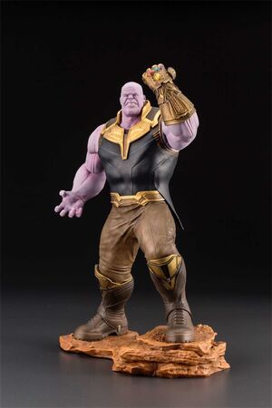 LOS VENGADORES INFINITY WAR ESTATUA 28 CM THANOS MARVEL ART FX+