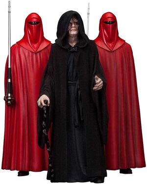 STAR WARS PACK 3 ESTATUAS 18 CM EMPERADOR PALPATINE & THE ROYAL GUARDS