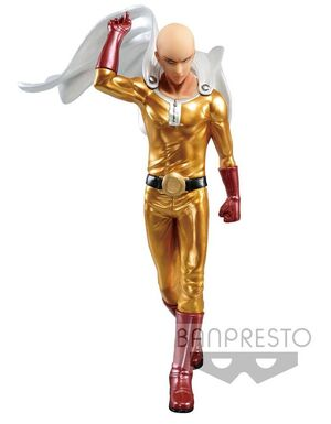 ONE PUNCH MAN ESTATUA PVC DXF SAITAMA METALIC COLOR 20 CM