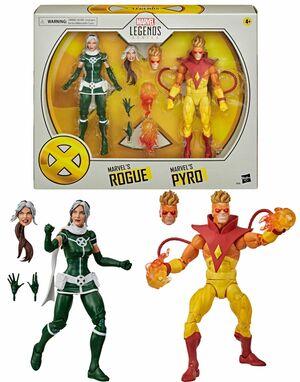 PYRO Y ROGUE PACK 2 FIG 15CM MARVEL LEGENDS X-MEN 20 ANIVERSARIO