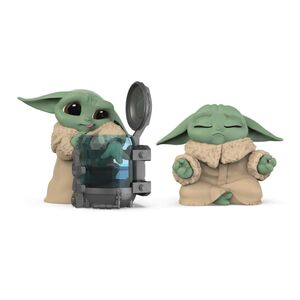 STAR WARS THE MANDALORIAN PACK THE CHILD BABY YODA CURIOSO+MEDITANDO SET 2 FIG 5,5CM