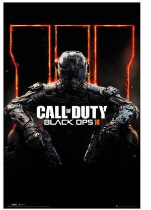 POSTER CALL OF DUTY BLACK OPS III COVER 61 X 91 CM