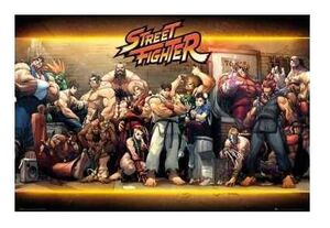 POSTER STREET FIGHTER CHARACTERS 61 X 91 CM