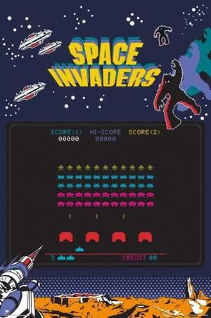 POSTER SPACE INVADERS SCREEN 61 X 91 CM