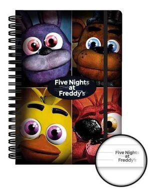 FIVE NIGHTS AT FREDDY'S LIBRETA A5 QUAD