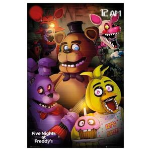 POSTER FIVE NIGHTS AT FREDDYS LET´S EAT!!! 61 X 91 CM