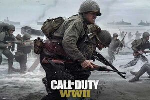 POSTER CALL OF DUTY WWII BEACH 61 X 91 CM (MODELO 2)