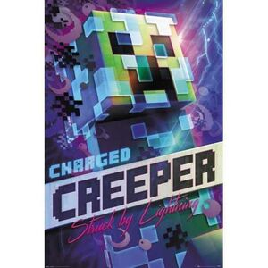 POSTER MINECRAFT CHARGED CREEPER 61 X 91 CM