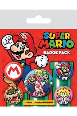 SUPER MARIO PACK 5 CHAPAS