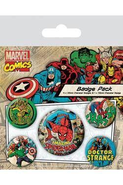 SPIDERMAN PACK 5 CHAPAS MARVEL COMICS