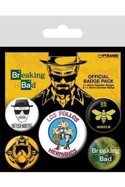 BREAKING BAD PACK 5 CHAPAS LOS POLLOS HERMANOS