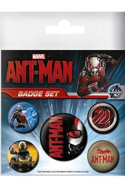 HOMBRE HORMIGA PACK 5 CHAPAS ANT-MAN