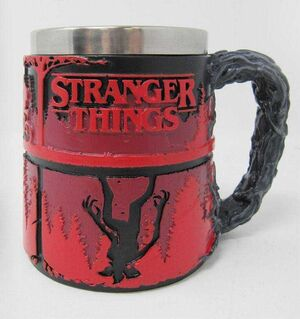 STRANGER THINGS TAZA UPSIDE DOWN