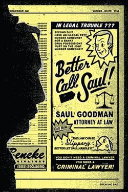 BREAKING BAD POSTER 61 X 91 CM BETTER CALL SAUL