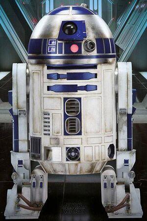 POSTER STAR WARS EPISODIO VII R2-D2 61 X 91 CM