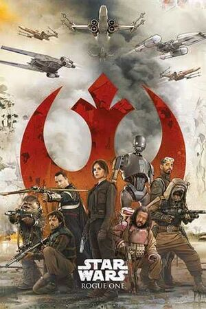 POSTER STAR WARS ROGUE ONE REBELS 61 X 91 CM