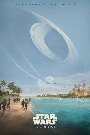 POSTER STAR WARS ROGUE ONE REBELLION BUILT ON HOPE 61 X 91 CM