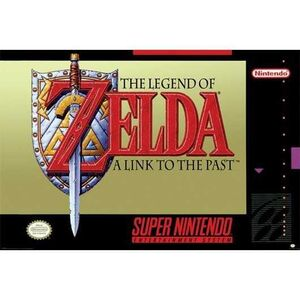 POSTER SUPER NINTENDO THE LEGEND OF ZELDA A LINK TO THE PAST 61 X 91 CM
