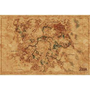 POSTER THE LEGEND OF ZELDA BREATH OF THE WILD HYRULE WORLD MAP 61 X 91 CM
