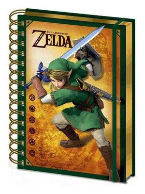 THE LEGEND OF ZELDA LIBRETA A5 WIRO 3D LINK