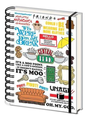 FRIENDS NOTEBOOK ANILLAS A5 THE ONE WITH THE QUOTES