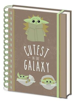 STAR WARS THE MANDALORIAN NOTEBOOK ANILLAS A5 CUTEST IN THE GALAXY