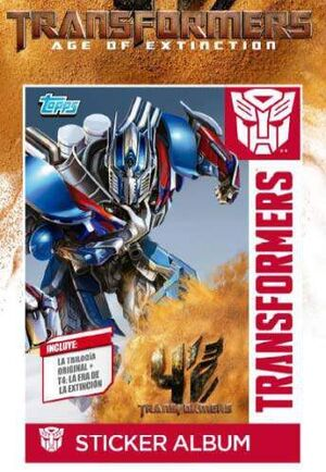 TRANSFORMERS TOPPS SOBRE STICKERS