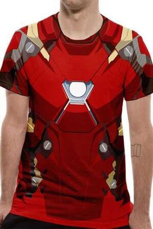 CAPITAN AMERICA CIVIL WAR CAMISETA CHICO SUBLIMATION IRON MAN COSTUME M