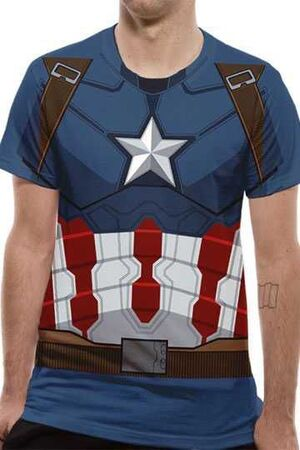 CAPITAN AMERICA CIVIL WAR CAMISETA CHICO SUBLIMATION CAPITAN AMERICA L