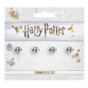 HARRY POTTER PACK 4 COLGANTES HECHIZOS (PLATEADOS)