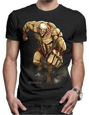 ATTACK ON TITAN CAMISETA TITAN S