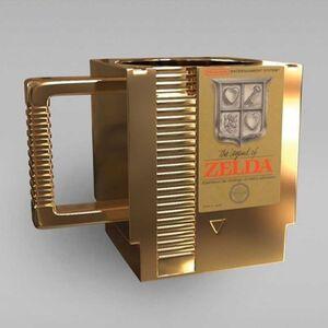 THE LEGEND OF ZELDA TAZA 330 CL 3D FORMA CARTUCHO