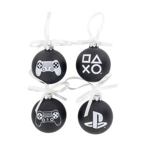 PLAYSTATION SET DE DECORACION NAVIDAD GLASS ORNAMENTS